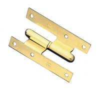 Дверная петля угловая съемная Amig 1-11 золото, правая