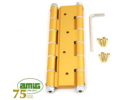 Петля дверная пружинная Amig-3035-180*133,5*4 золото (ORO) 180мм