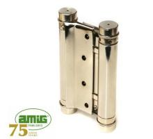 Петля дверная пружинная Amig-3037-100*126 никель 100мм