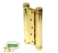 Петля дверная пружинная Amig-3037-125*126 золото 125мм