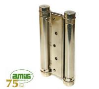Петля дверная пружинная Amig-3037-125*126 никель 125мм