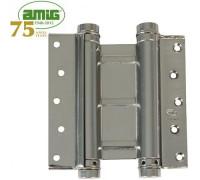 Петля дверная пружинная двойная Amig-3037-75*126 никель 75мм
