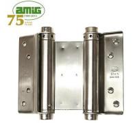 Петля дверная пружинная двойная Amig-3037-100*135 INOX 100мм