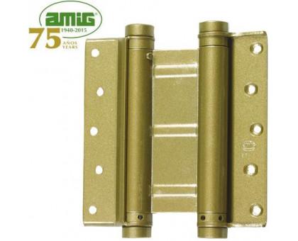 Петля дверная пружинная двойная Amig-3037-100*126 мартэлэ 100мм (цвет олива)