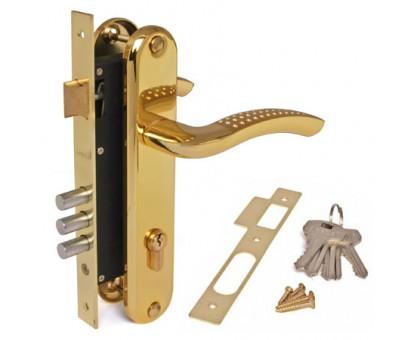 Врезной замок Apecs 2227/60-G/GM золото/матовое золото