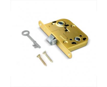 Врезной замок Apecs 6000-WC/S-G ключ буратино без отв. планки, золото (для финских дверей)