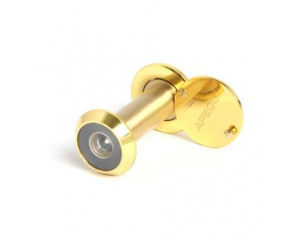 Дверной глазок Apecs 3014/40-75-G золото диаметр 14мм