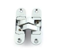 Петля дверная скрытой установки Apecs DH-1130-95*23*5-3D-Z-CRM-L матовый хром левая до 40кг