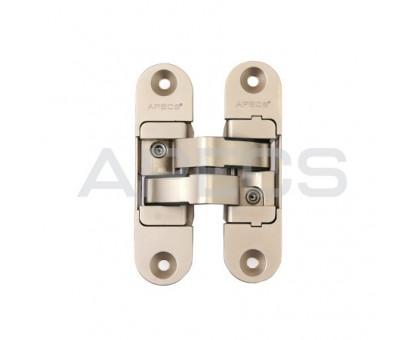 Петля дверная скрытой установки Apecs DH-1130-95*23*5-3D-Z-NIS-L матовый никель левая до 40кг