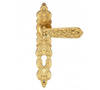 Дверная ручка на планке Archie Genesis Arabesco S. GOLD (CL) под цилиндр матовое золото