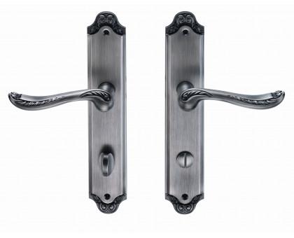 Дверная ручка на планке Archie Genesis Acanto BL. SILVER (OL) сантехническая черненое серебро