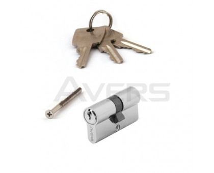 Цилиндровый механизм Avers ZC-60-CR 3 ключа (хром) ключ/ключ