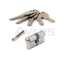 Цилиндровый механизм Avers ZM-60-CR (хром) ключ/ключ, перфорированный ключ