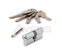 Цилиндровый механизм Avers ZM-70-CR (хром) ключ/ключ, перфорированный ключ