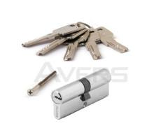 Цилиндровый механизм Avers ZM-80-CR (хром) ключ/ключ, перфорированный ключ