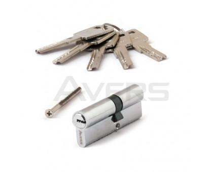 Цилиндровый механизм Avers ZM-80(35/45)-CR (хром) ключ/ключ, перфорированный ключ