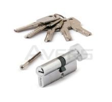 Цилиндровый механизм Avers ZM-80(35C/45)-C-CR (хром) ключ/верт., перфорированный ключ
