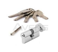 Цилиндровый механизм Avers ZM-70-C-CR (хром) ключ/верт., перфорированный ключ