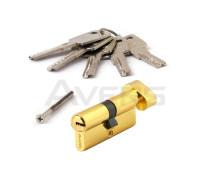 Цилиндровый механизм Avers ZM-70-C-G (золото) ключ/верт., перфорированный ключ