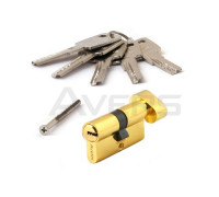 Цилиндровый механизм Avers ZM-60-C-G (золото) ключ/верт., перфорированный ключ