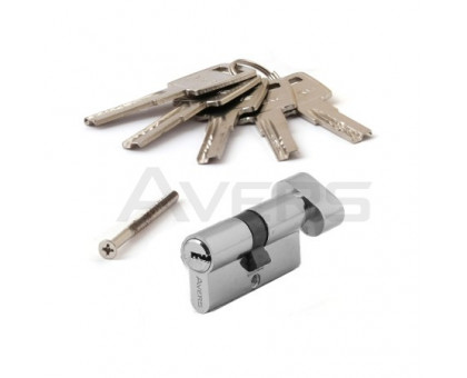 Цилиндровый механизм Avers ZM-60-C-CR (хром) ключ/верт., перфорированный ключ