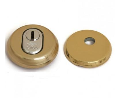 Броненакладка Cisa 06461.51.0 накладная латунь для цилиндра со штоком