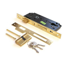 Врезной замок Cisa 52111-40 с цилиндром 60мм ключ/ключ