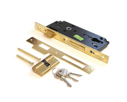 Врезной замок Cisa 52111-45 с цилиндром 60мм ключ/ключ
