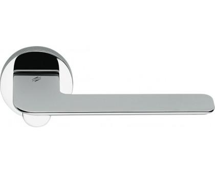 Дверная ручка Colombo Slim FF11 RSB на круглой розетке (полированный хром)