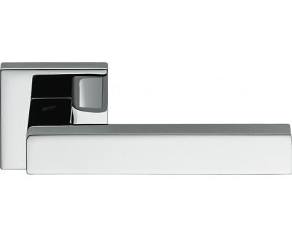 Дверная ручка Colombo Ellesse BD21 RSB на квадратной розетке (полированный хром)
