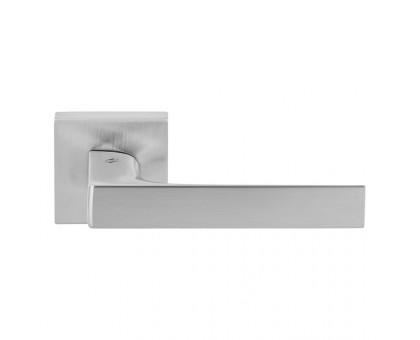 Дверная ручка Colombo Robocinque S ID71 RSB на квадратной розетке (матовый хром)