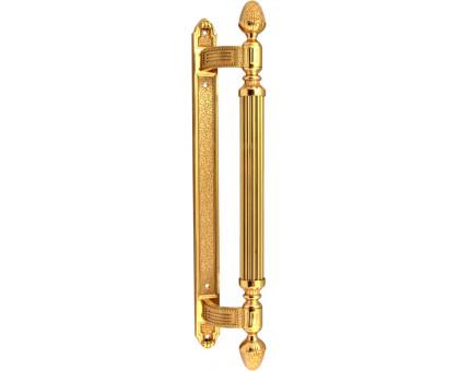 Дверная ручка скоба Corona 0102 457 мм полированная латунь (1 шт.)