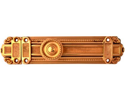 Шпингалет дверной латунный Corona 162мм полированная латунь