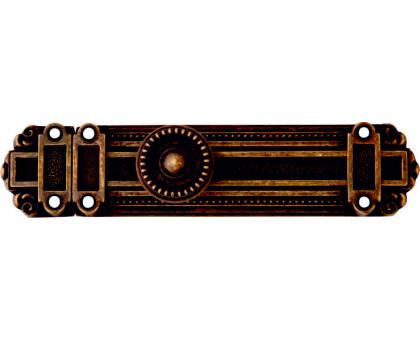 Шпингалет дверной латунный Corona 162мм античная бронза