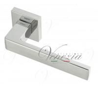 Дверная ручка Fratelli Cattini BOOM 8-CR на квадратной розетке полированный хром