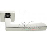 Дверная ручка Fratelli Cattini HAMMER 8-CR на квадратной розетке полированный хром