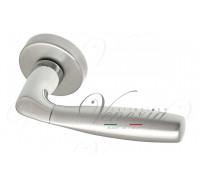 Дверная ручка Fratelli Cattini JET 7-CR/CS на круглой розетке полированный хром/матовый хром