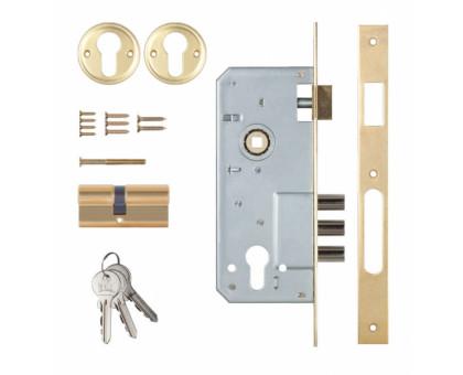 Замок врезной Kale Kilit 152/3MR золото 68мм ключ/ключ