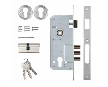 Замок врезной Kale Kilit 152/3MR никель 68мм ключ/ключ