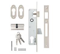 Замок врезной Kale Kilit 253 (25mm) узкопрофильный с цил 68мм ключ/ключ