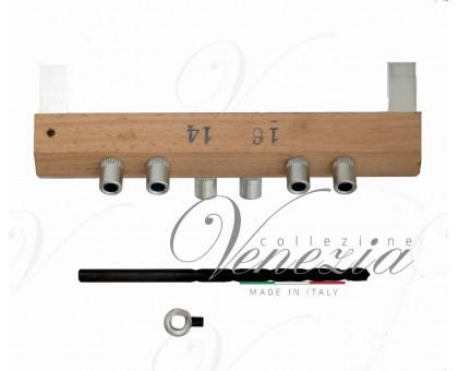 Шаблон LaFlorida 4CA86AR1416.01 для установки ввертных регулируемых петель диаметром 14мм, 16мм