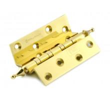 Петля дверная угловая Palladium 100мм золото, для дверей с притвором