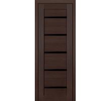 Дверь межкомнатная Profil Doors 7Х ст. чёрный триплекс цвет венге мелинга
