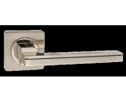 Дверная ручка Puerto AL 514-02 SN/NP матовый никель/никель блестящий