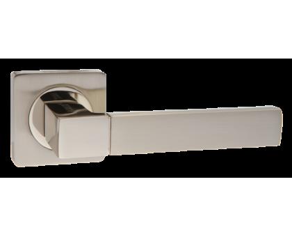 Дверная ручка Puerto AL 521-02 SN/NP матовый никель/никель блестящий