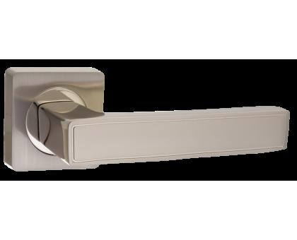 Дверная ручка Puerto AL 534-02 SN/NP матовый никель/никель блестящий