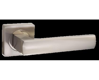 Дверная ручка Puerto AL 527-02 SN/NP матовый никель/никель блестящий