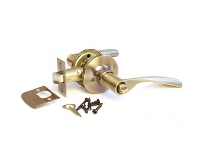 Дверная ручка-защелка Сириус 200-03 AB бронза с фиксатором
