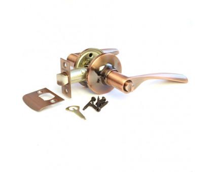 Дверная ручка-защелка Сириус 200-03 AC медь с фиксатором