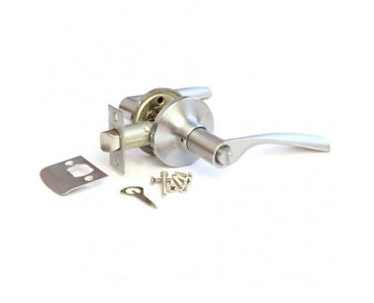 Дверная ручка-защелка Сириус 200-03 SN матовый хром с фиксатором